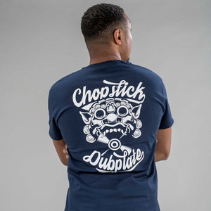 Navy Chopstick Dubplate T-Shirt from back