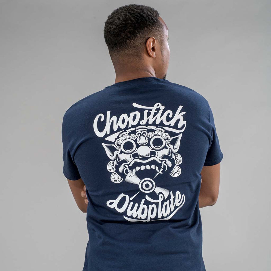 Navy Chopstick Dubplate T-Shirt