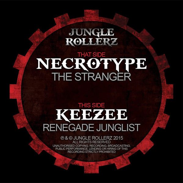 "Jungle Rollers - Necrotype - The Stranger - 12"" vinyl"