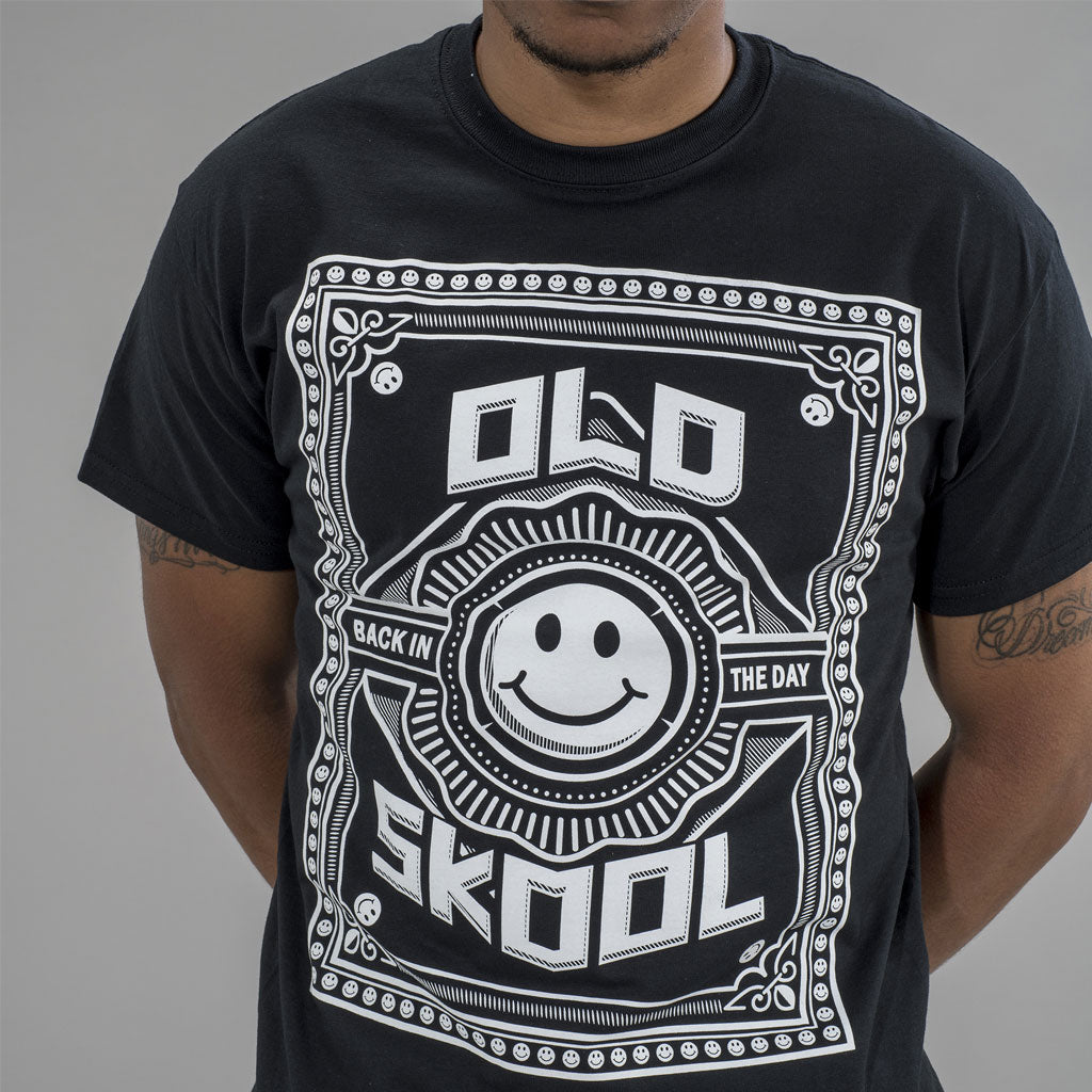 Old Skool Rave T-Shirt with white Print