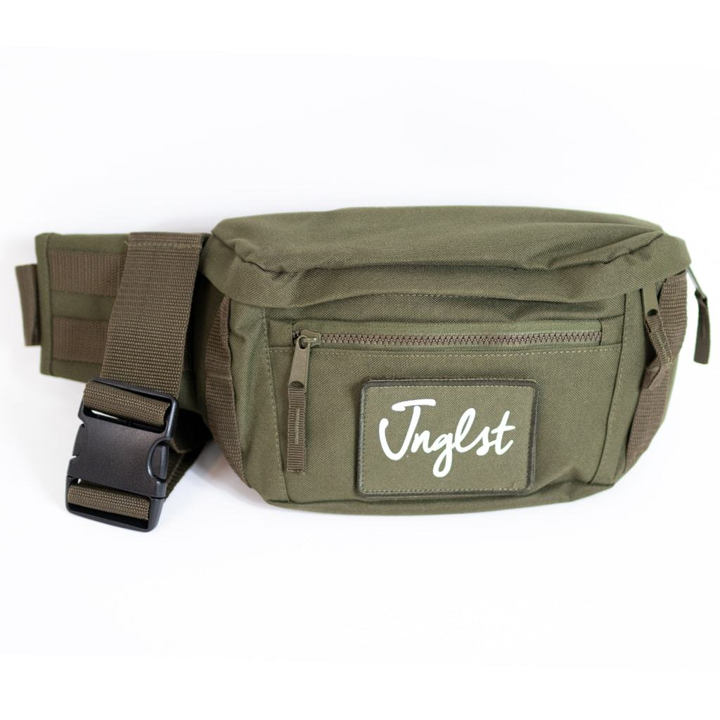 Junglist Olive Green Utility Bag for Jungle Ravers from Jnglst Clothing