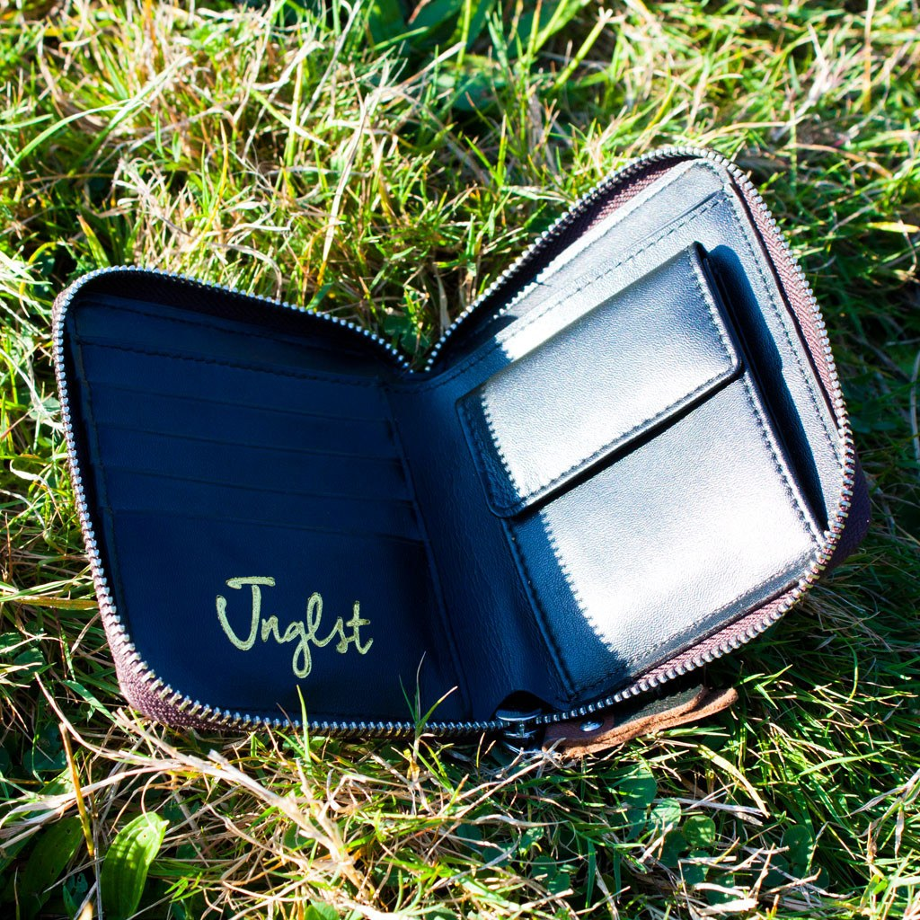 Leather Junglist Wallet by Jnglst Clothing