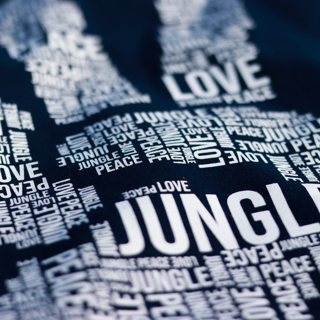 Navy Peace, Love and Jungle T-Shirt
