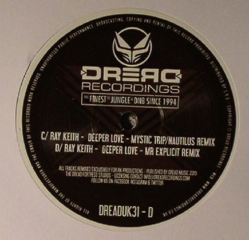 "Dread 31 Double Vinyl Deeper Love EP - 12"" vinyl"