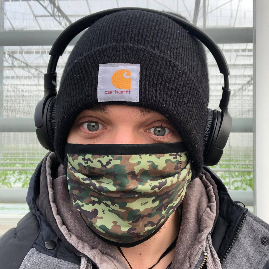 Mad Rush MC Wears The Junglist Network Camo Face Mask