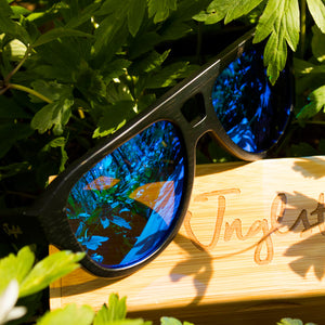 Blue Bamboo Sunglasses