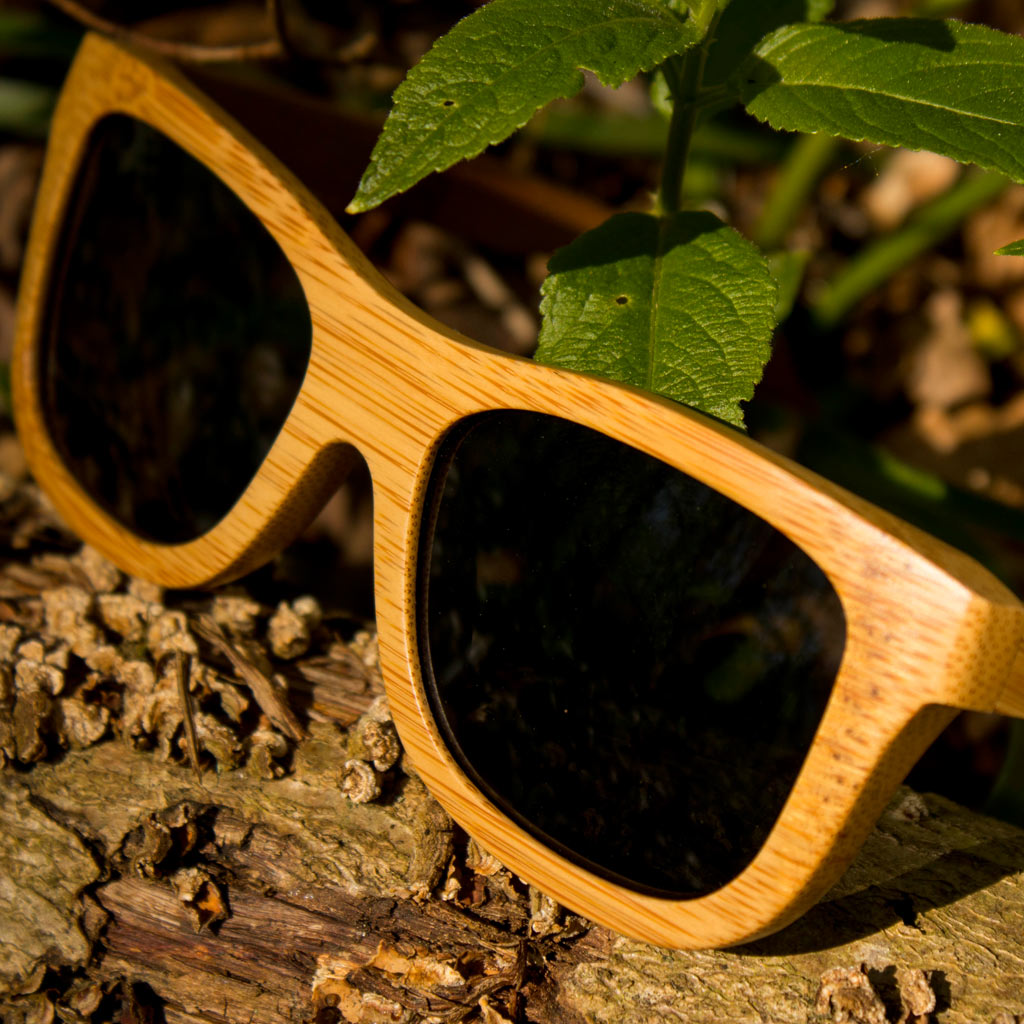Grey Jnglst Original Bamboo Sunglasses