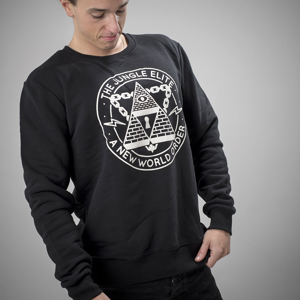 Model Wearing Junglist Network Junglist Elite Sweatshirt