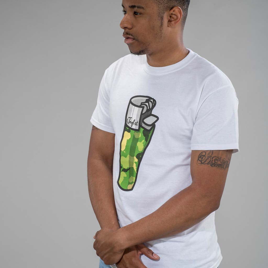 White Lighter T-Shirt for Junglists