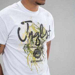 White Jnglst Clothing Paint Splat
