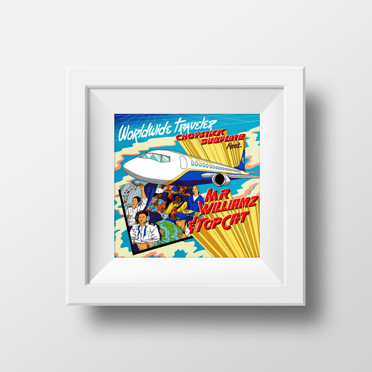 Worldwide Traveller Art Print by Chopstick Dubplate
