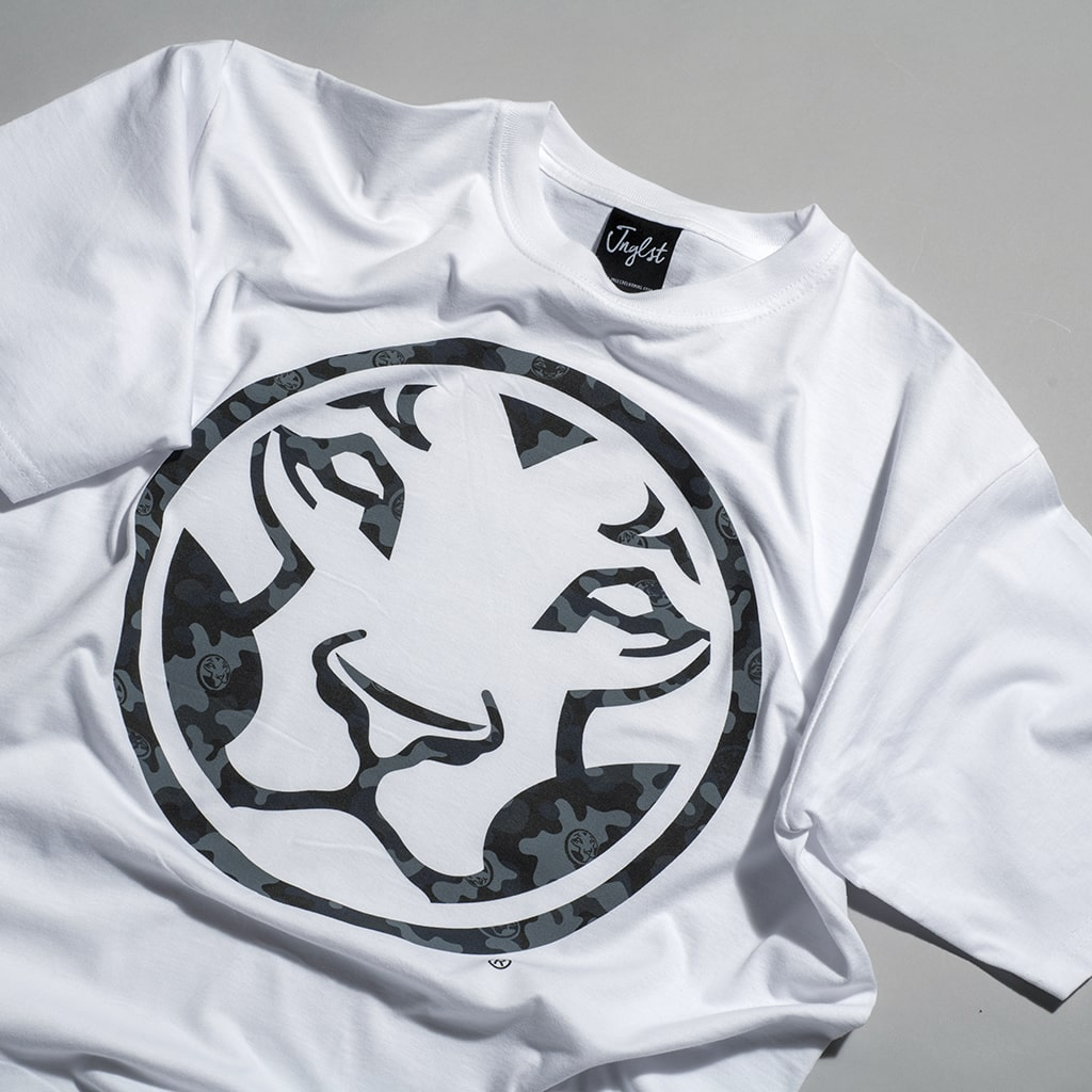 Yardrock White Junglist Collab Lion Half Fat T Shirt