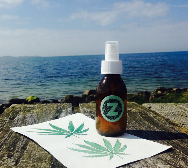The Big Chill Room and Pillow Mist in in Cannabis (Hemp), Patchouli, Geranium and Lemongrass.