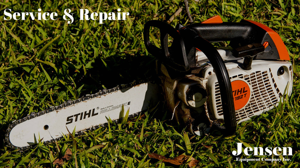 Jensen Equipment services and repairs power tools and outdoor power equipment like saws, drills, lawn mowers, generators, small engines.