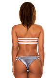 Coronado Bandeau // Navy Nautical Stripe - Cabana Anna Swimwear  - 2