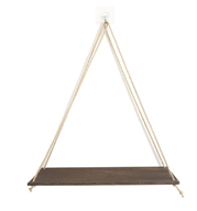 Hanging Rope Wall Mounted Floating Wooden Shelf