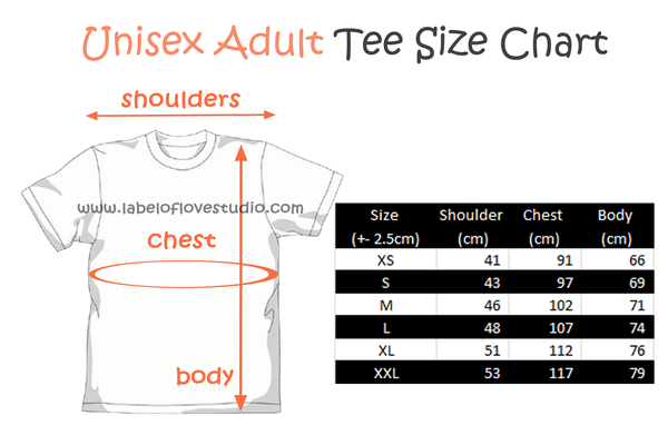 Size And Color Charts Label Of Love Studio