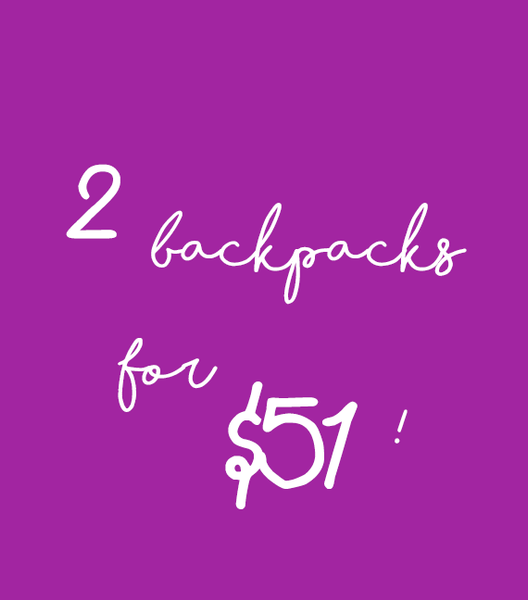 2 Backpacks for $51!