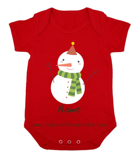 The Shy Snowman Christmas Romper/ Tee