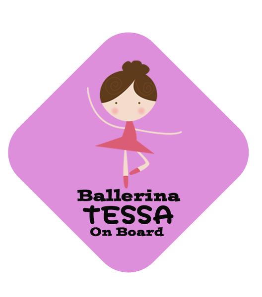 Ballerina Car Sign