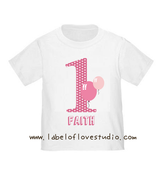Sweet Candy Balloons Birthday Romper/ Tee