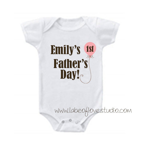 Sweet Balloon 1st Father's Day Romper/ Tee