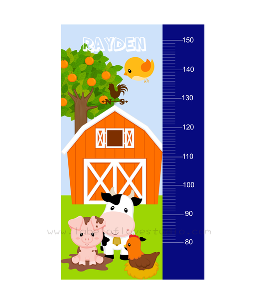 Barnyard Friends Height Chart