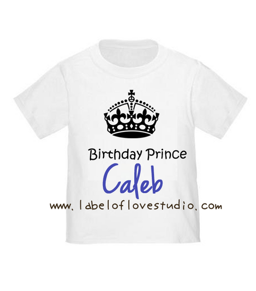 Birthday Crown in Blue Birthday Tee