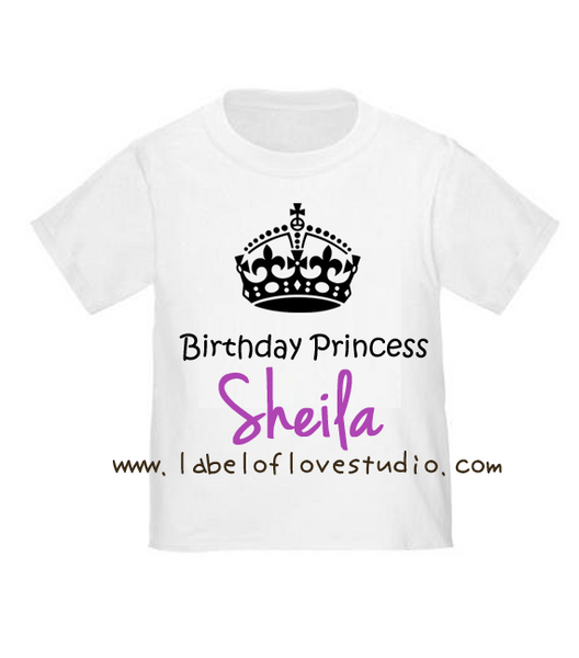Birthday Crown in Purple Birthday Tee