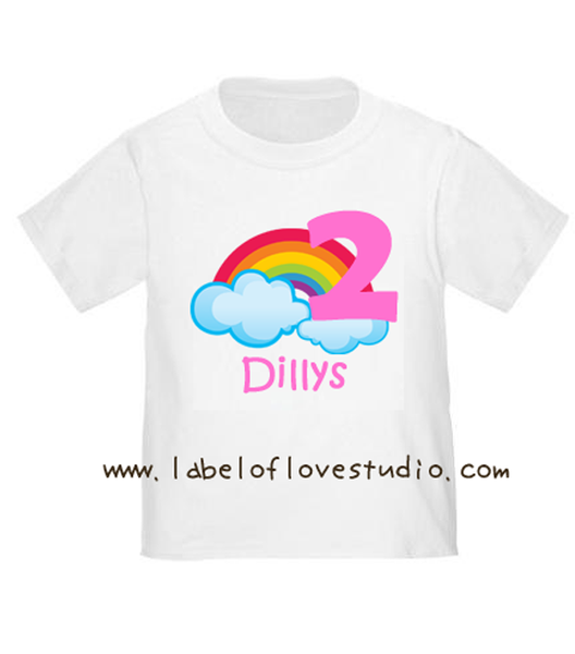 Rainbow in Pink Birthday Tee