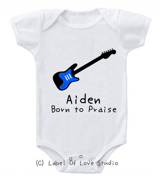Born to Praise Romper/ Tee in Blue