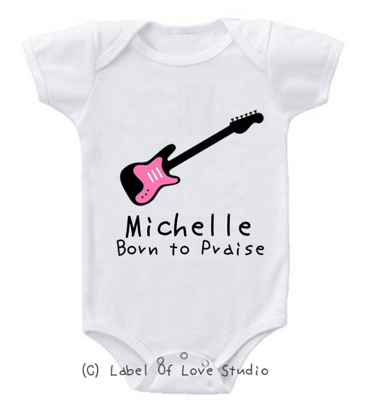 Born to Praise Romper/ Tee in Pink
