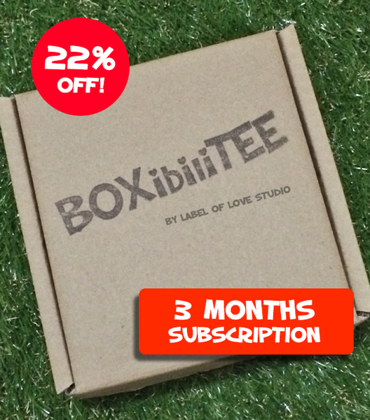 BOXibiliTEE Subscription - 3 month