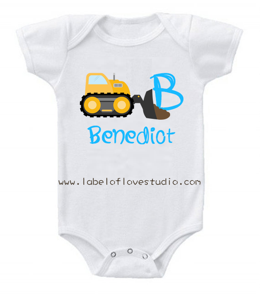 Little Builders Series: Bulldozer Romper/ Tee