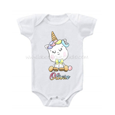 Happy Unicorn Romper/ Tee
