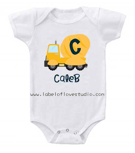 Little Builders Series: Cement Mixer Romper/ Tee