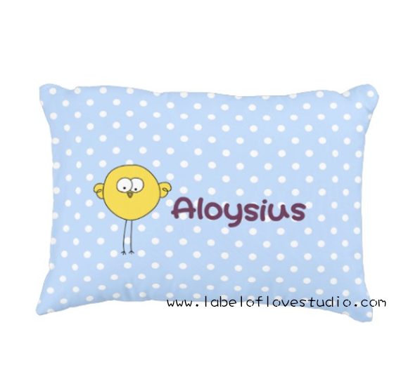 Cheeky Birdie Personalized Pillow