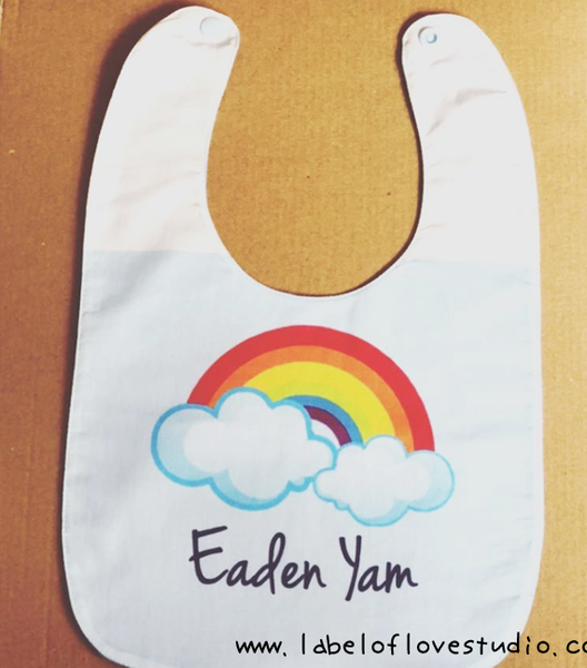 Cheery Rainbow Bib