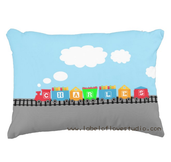 Choo Choo Train Personalized Pillow