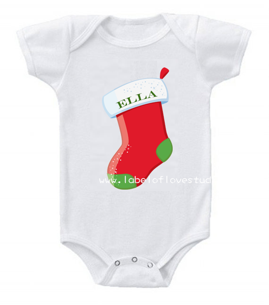 Christmas Stocking Romper/ Tee