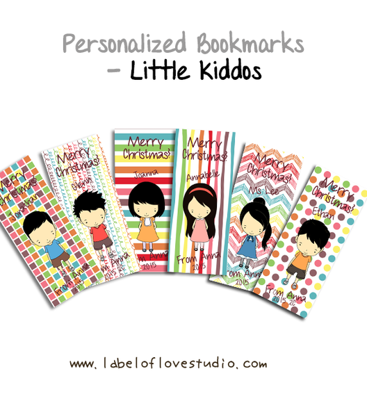 Personalized Bookmarks (Little Kiddos)