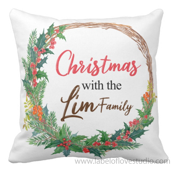 Christmas Wreath Cushion