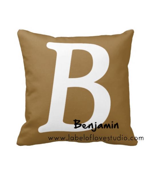 Classic Initial Personalized Cushion