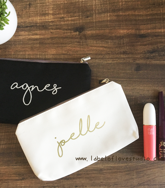 Classic Pencil Case/ Makeup Pouch