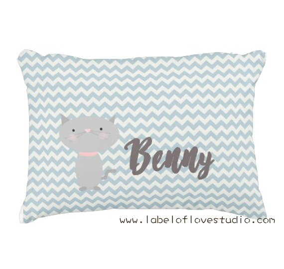 Cool Cat Personalized Pillow
