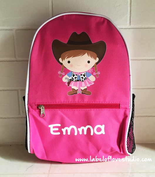 Cowgirl Personalized Backpack