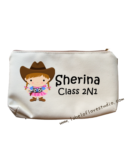 Little Cowgirl Pencil Case