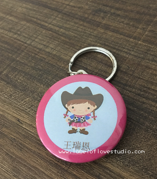 Cowgirl Bag Tag