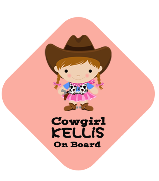 Cowgirl Car Sign