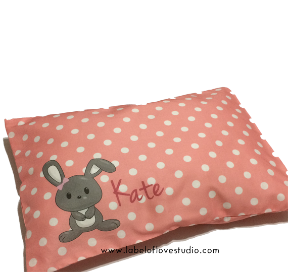 Cute Little Bunny Personalized Pillow